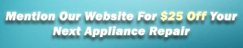 Mention Our Website for $25 Off Your Next Appliance Repair, Pennsylvania